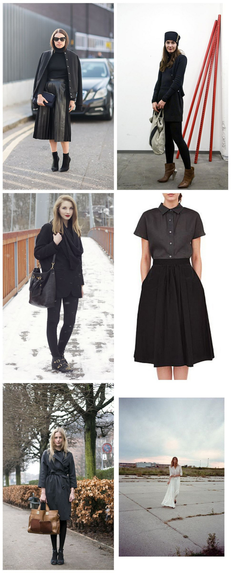 Black on Black   Some of my favorite looks of the week in mostly monochrome black.   Stockholm Street Style | The Locals | Pavlina Jagrova | Margaret Howell | The Locals | Daria Werbowy for Maiyet by Cass Bird