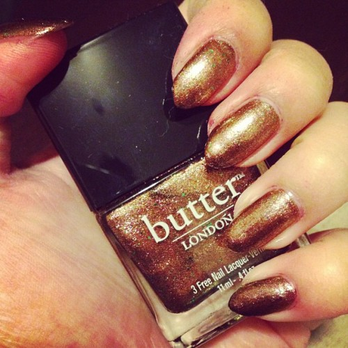thanks, @j10anne for the @butterlondon nail polish set! ❤💅 #scuppered #nails #nailsdid