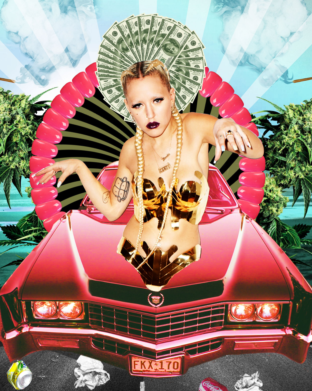 knifefite:  i turned Brooke Candy into a Tibetan Goddess. i wanna draw this for real now!