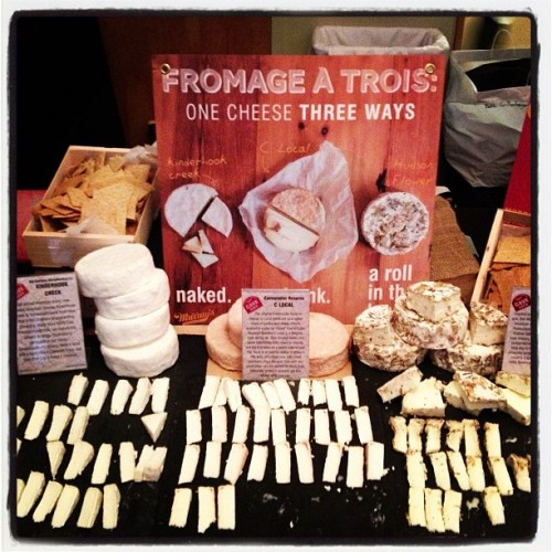 Sharing delicious cheese at the @chefscollab book party at ICE!