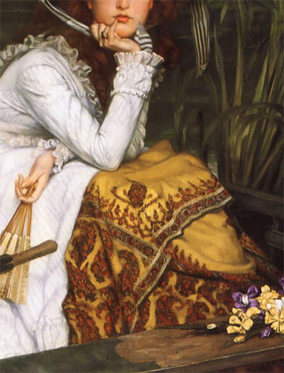 Young Lady in a Boat (detail) by James Tissot (1836-1902) oil on canvas, 1870