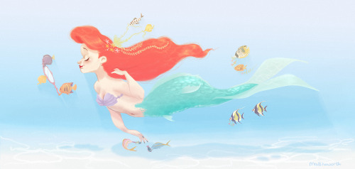 matthoworth:  There are some perks to being a mermaid princess. This was ridiculously self indulgent of me and I don't even care.