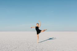 ballet pointe portrait utah photographers on tumblr lensblr original photographers Bonneville Salt Flats
