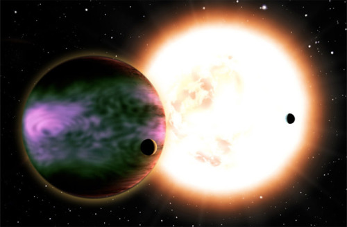 "'Failed Stars' May Shine With Alien Aurorae by Ian O'Neill  Brown dwarfs often get a bad rap for being ""failed stars"" or ""sub-stellar objects,"" but in light of new research they may finally be known as ""over-achieving planets."" Scientists have used a radio antenna array in Europe to detect evidence that some brown dwarfs may glow with powerful aurorae. We know an aurora as the beautiful and sometimes dramatic glow that appears at high latitudes when the sun's highly-charged particles interact with our planet's global magnetosphere. The solar wind and explosive events like coronal mass ejections (CMEs) will carry solar plasma (primarily energetic protons) out to the Earth's orbit. Often, they will interact with the geomagnetic field and spiral down toward the poles (where the magnetic field is directed). On interacting with the atmosphere, light is generated, producing the aurora we know and love. However, before the particles are absorbed by the atmosphere, creating auroral light, spiraling plasma will generate radio emissions that can be detected. It stands to reason that any planetary body with a global magnetic field should have their own aurorae and also generate a radio hum. Indeed, astronomers are very familiar with aurorae on Jupiter and Saturn — Jovian auroral displays known to be 100 times more intense than anything Earth's atmosphere can generate and their associated radio emissions can be studied. But what about exoplanets and brown dwarfs? Can their aurorae also be detected? … (read more: Discovery News)          (image: David A. Aguilar (CfA))"