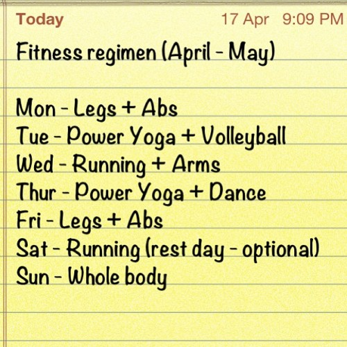 My fitness regimen for the next 2 months. I usually don't post anything but pictures but I've been asked what I've been doing to keep in shape. #fitness #igfitness #fitspiration #fitspo #instafit #muscle #workout #instagood #instadaily