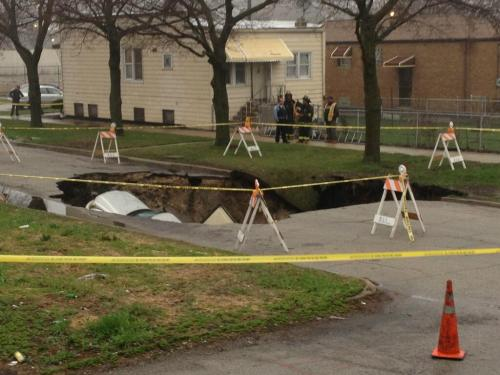 CHICAGO SINKHOLE! As if this news week couldn't get any crazier, along comes a sinkhole to swallow 3 cars. FULL STORY HERE.