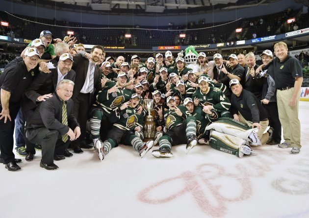 London Knights win the OHL and are the final team in the Memorial Cup, as they join Portland (WHL), Halifax (QMJHL), and Saskatoon (Host)