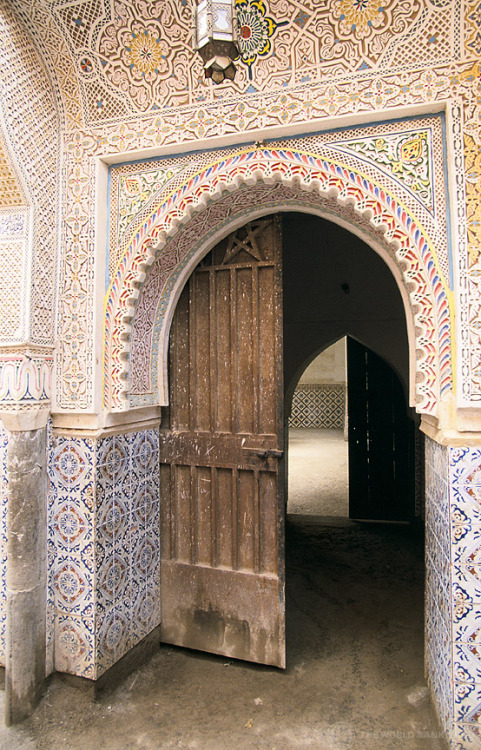 uncommonjones:  Decorated archway and door, Morocco by World Bank Photo Collection