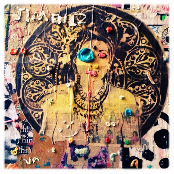Gum wall 2 (because I skipped 2). #street #streetart #urbanart #hindu #graffiti  #gum #seattle