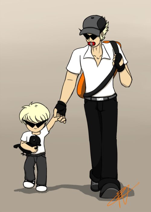 wielderofthepen:  Based off an actual father and son I met at work yesterday.