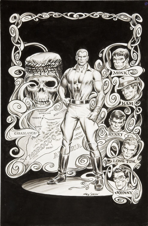 Ghost-Pirates From the Beyond Marie Severin and Tony DeZuniga Doc Savage #4 Splash page Original Art (Marvel, 1976)
