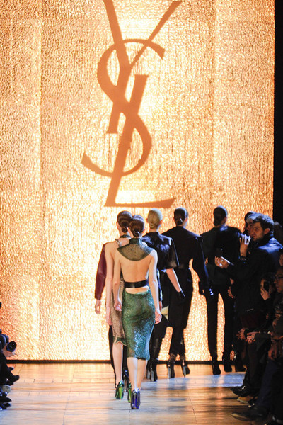 aclockworkpink:  Yves Saint Laurent Finale F/W 2012, Paris Fashion Week