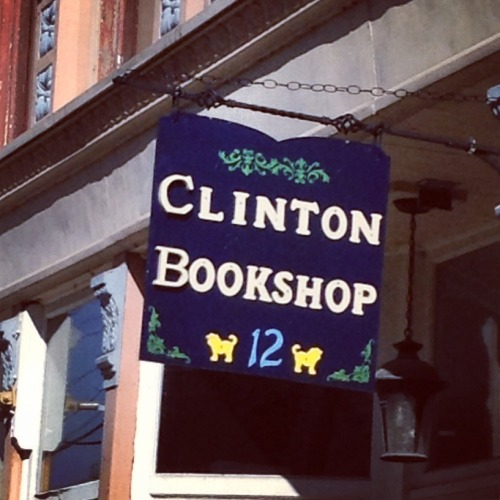 clintonbookshop:  Harvey made our new sign  My first job way back in the day. Love the book shop!
