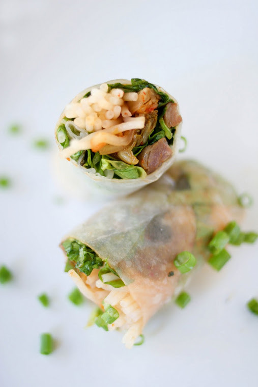 in-my-mouth:  Kalbi Spring Rolls