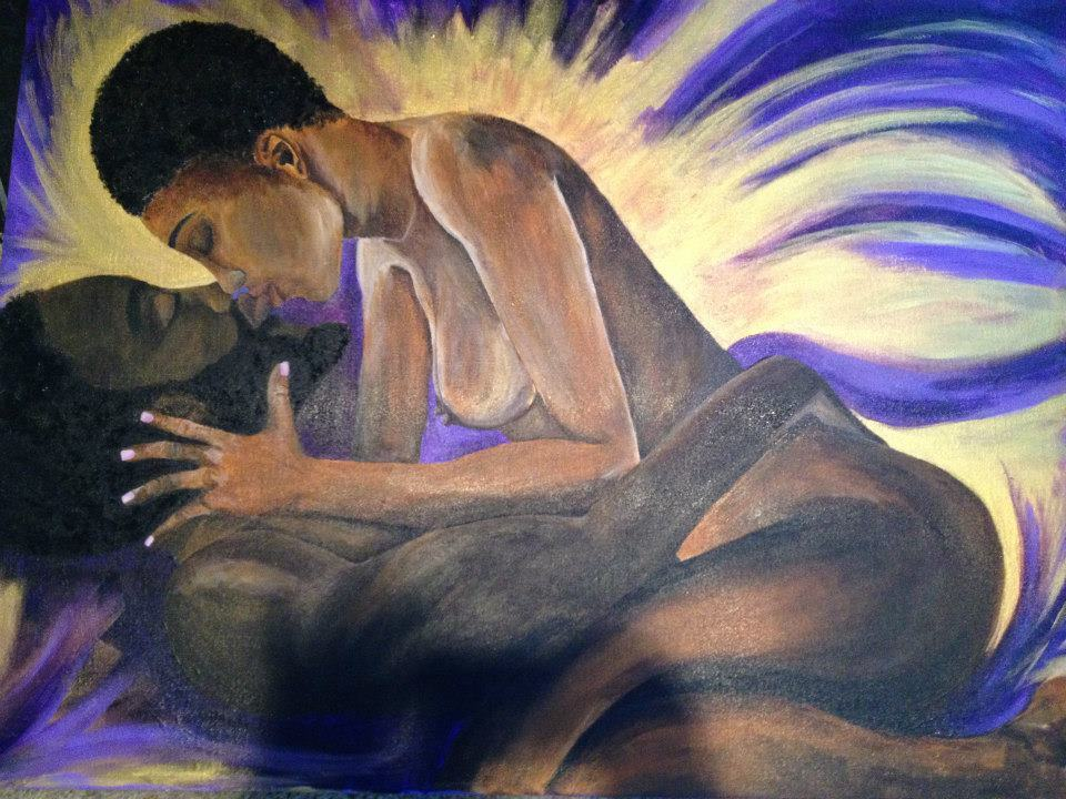 """""""Black Love."""" Did this piece for my Brother and his Wife for their one year anniversary!"""