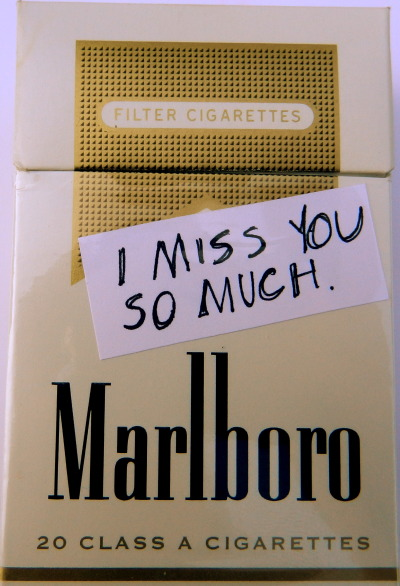 cigarette-memories:  I miss you so much.