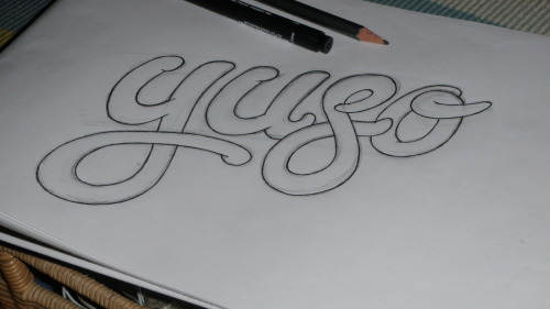 Some hand drawn typography