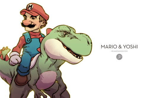 Mario and Yoshi Created by Jake Parker