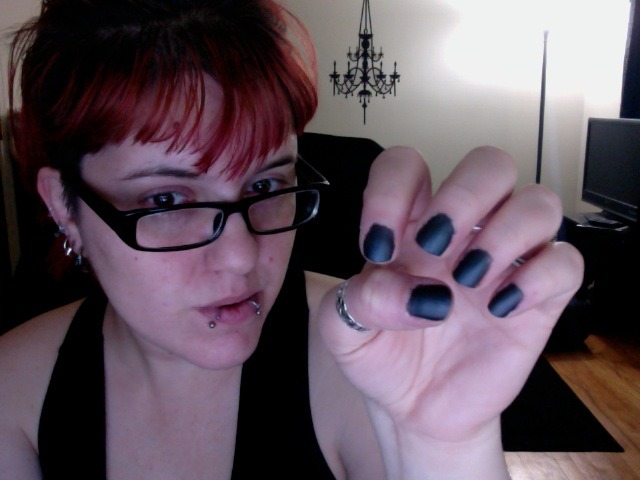 Painted my nails (matte) black for the first time in fucking-ever. LOL.