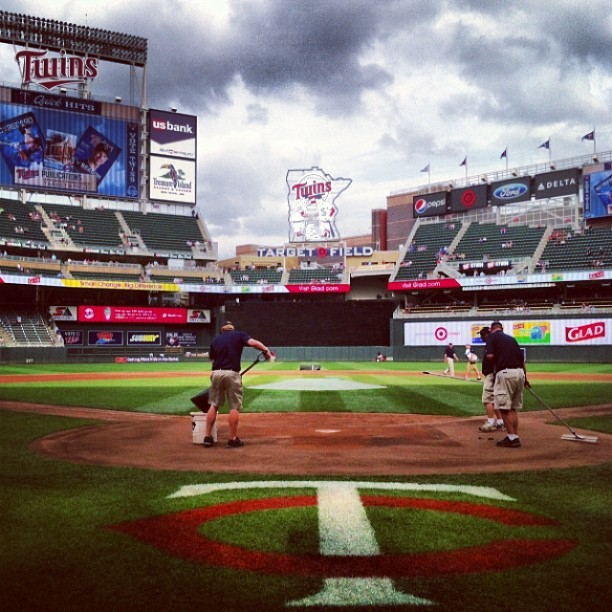 Best view in the house  (at Target Field)