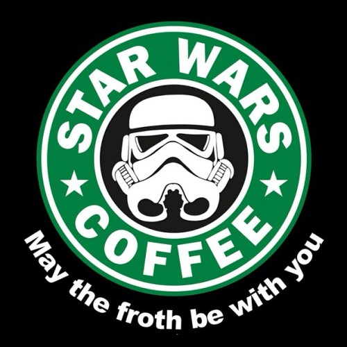 May the froth be with you! That would be more fitting if I was at work. #starwars #coffee #maythe4th
