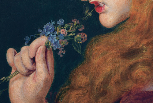 detailsofpaintings:  Frederick Sandys, Love's Shadow 1867