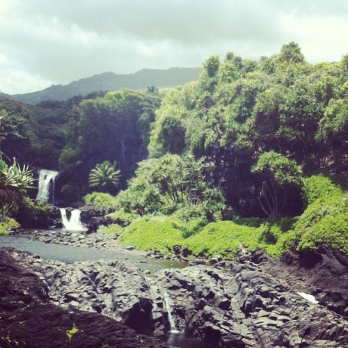 I'm in Maui. This picture is part of the Seven Sacred pools in Haleakala National Park. Preettttyy.