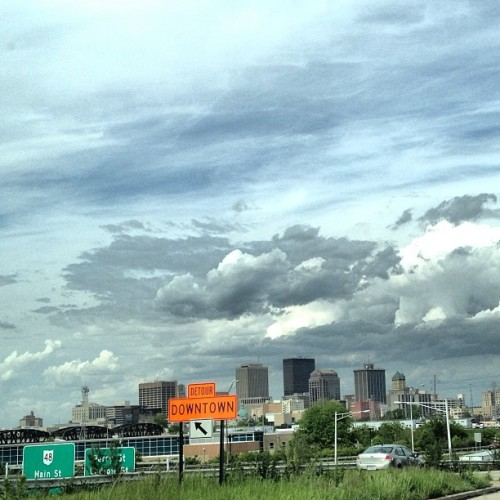 Off to the #comicshop! #downtown #dayton #ohio #cloudporn #skyporn #scenic #licksforlicks #likeme ;)
