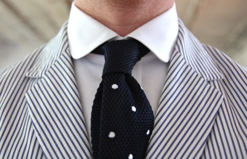 I really need a tie like this for my seersucker suit!