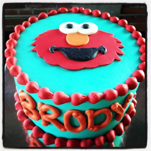 Elmo cake for the cutest, sweetest little man, Brody.
