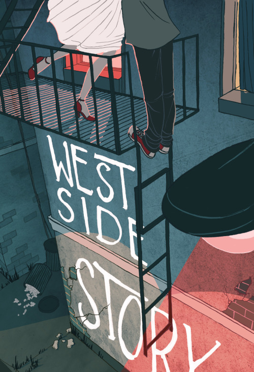 noniboynton:  Poster design for West Side Story