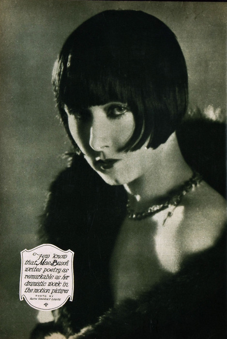 (via It'll Take The Snap Out Of Your Garters!: Bob-and-Bangs) Mae Busch