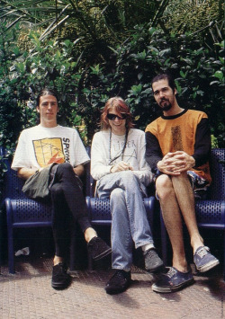 lithium67:  This day in Nirvana history…Taken sometime between 02/01/92 and 02/07/92. This is my new favorite picture of Nirvana.