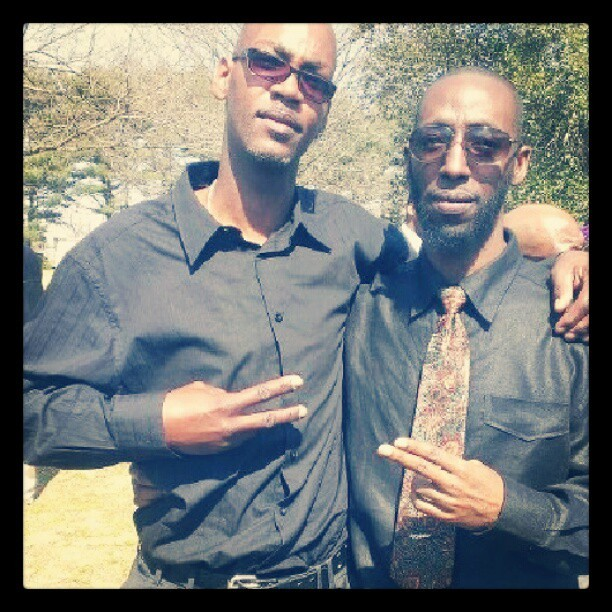 Me and my Cuz Zell at my Uncle Jon's funeral in VA. Rest in Paradise.  (at Gloucester)