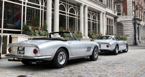 archaictires:  Ferrari 275 GTB NART Spyder and berlinetta