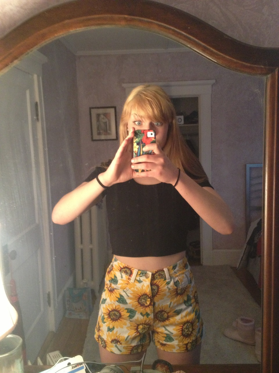 AAAAAAAND FINALLY GOT MAH SUNFLOWER SHORTS HOLLA