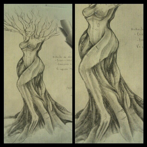 Some more #shading done #mother #nature #tree #peace #love #girl #sketch #art #lovethisart #tattoo #artist #feathers #calculus #notes #math #nyc #dementophobia #bodymodification #like