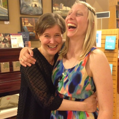 emmastraub:  I read at Parnassus and then I tried to eat Ann Patchett's head. 💗💗💗  Everything about this is wonderful.