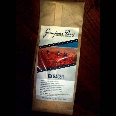 Last bag of #CXRacer #SingleOrigin #coffee just shipped! Wow - THANK YOU @GrimpeurBros friends & supporters! We just blew through our lot of #Kenya goodness that is CX Racer & it's no more. So pour one out for one of our faves of all time! But don't worry…We've got lil' sumptin' sumptin' dropping soon @ GrimpeurBros.com! #StayTuned Annnnd #ATX, we've got the last 5lbs of CX Racer headed to the @DrivewaySeries' #PodiumCafe starting with the Spring Classic this Sat! #ComeNGitIt #ThankYou #cycling #BikeATX #Bittersweet #coffeedoping #specialtycoffee #squaready