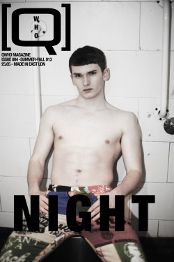 Jon @ FM models on the first cover of QWHO issue 004 - out this April.  Photo. Rebecca Thomas  Fashion . Ori Lev Grooming . Danny DeFreitas Make-up . Molly Atkins  Fashion Assistant . Rebecca Barnes.