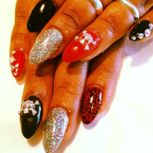 @missthang604 mix up claws  (at Classy Claws Nail Studio)