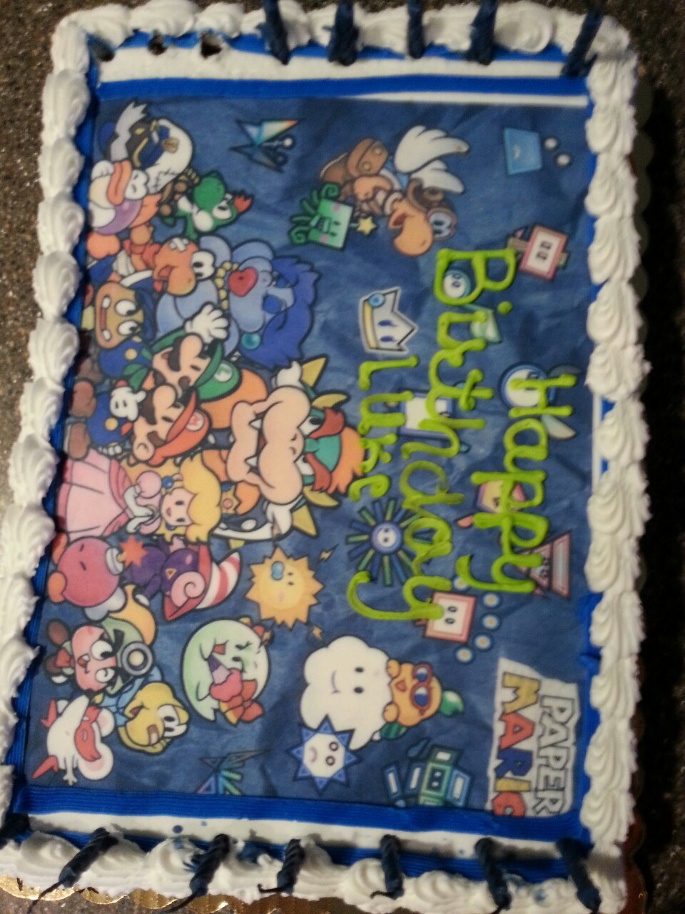 My little brother's amazing birth mas cake.