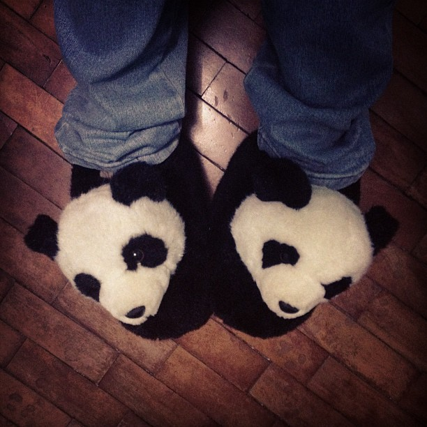 Pantufas 🐼 #panda #slippers #houseshoes