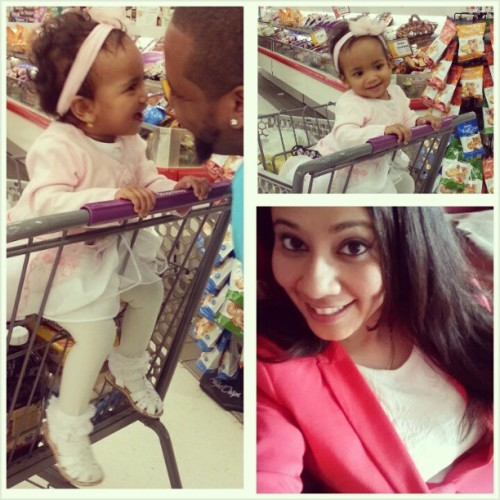 Went #grocery shopping and #Sophia was being #crazy with her #hysterical #laughing #silly #babygirl #Easter #Sunday