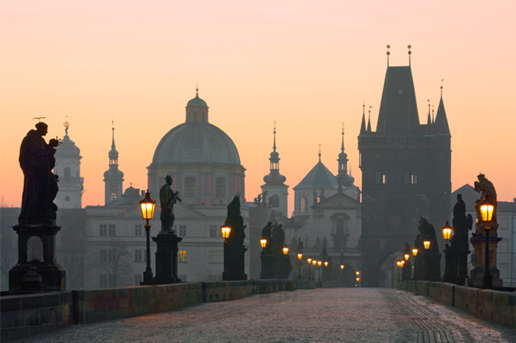 Charles bridge in Prague (Czech Republic).
