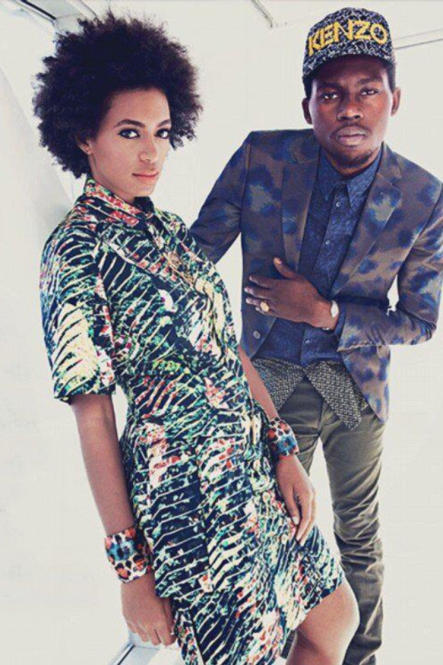 Solange and Theophilus London in Vogue- March 2013