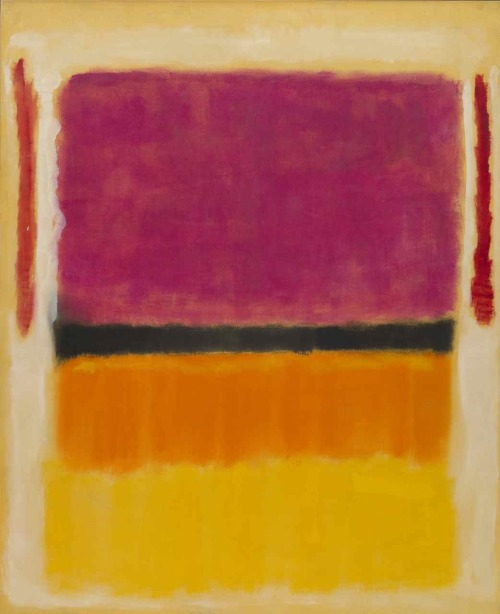 UNTITLED (VIOLET, BLACK, ORANGE, YELLOW ON WHITE AND RED), 1949, by Rothko