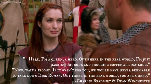 """A Buddy of mine was into Larping so I came for him and stayed for the chicks…it's not just that though, it's an escape. I mean, here, I'm a queen, a hero. Out there in the real world, I'm just hacking out code and chugging coffee all day..."