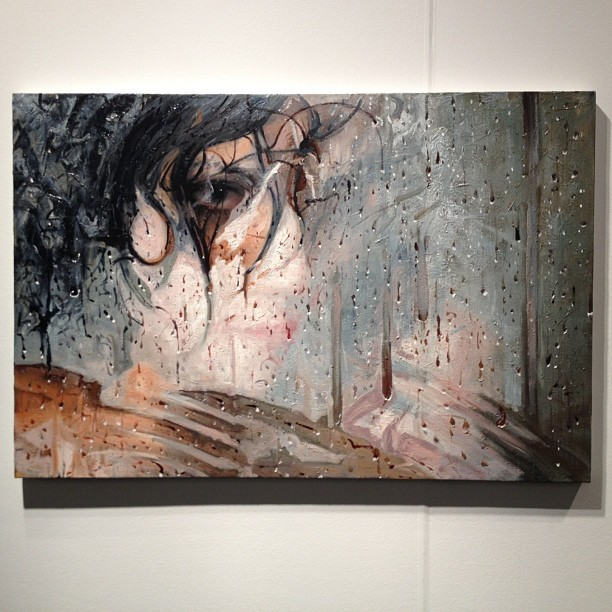 """Chance"" by artist Alyssa Monks at ArtMRKT San Francisco with Hespe Gallery - 32""x48"" oil - $16,000.  #alyssamonks #artmrkt #hespegallery #hespe #oilpainting #oil #painting #artfair"