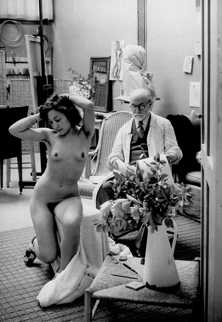 Matisse and model by George Brassai